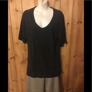 Knit top with round neck